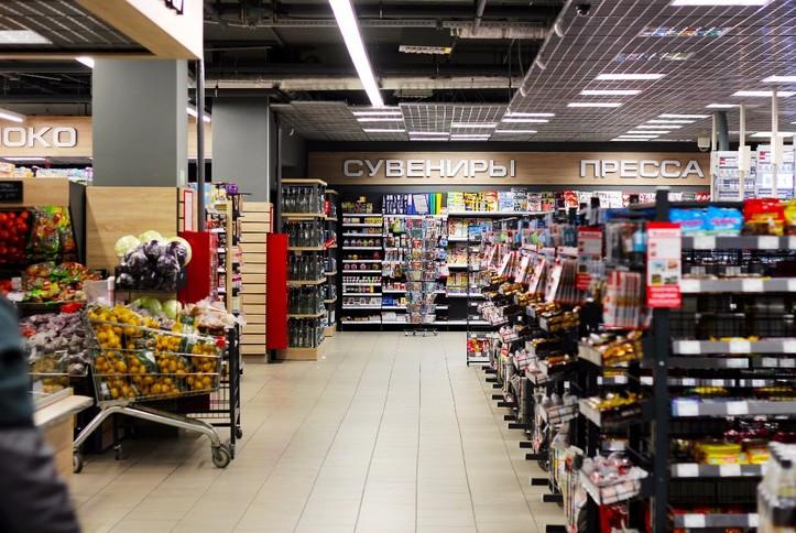Настенные громкоговорители в гипермаркете