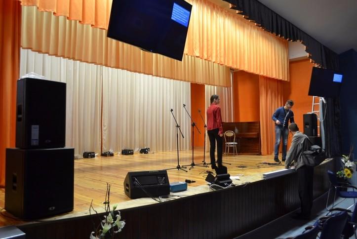 Оснащение AV-оборудованием актового зала гимназии №16 г. Минска