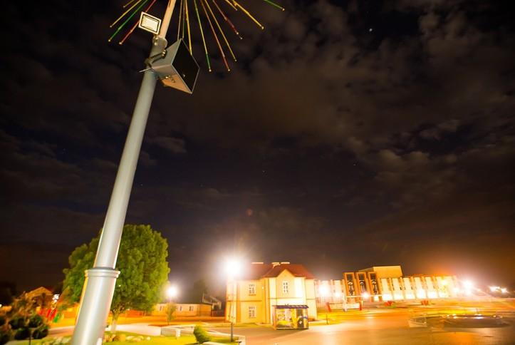 Оснащение колонками RCF фонтанов на центральной пл. г. Слонима