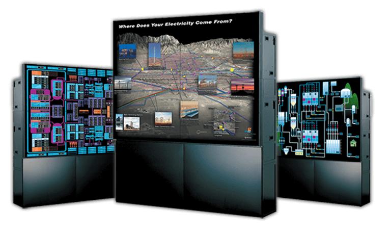 Примеры основных технологий отображения для видеостен